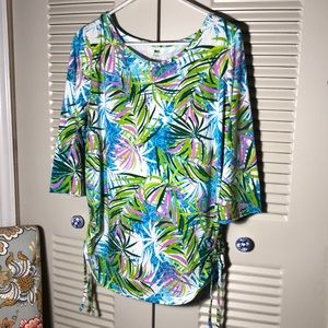Tropical Print Tunic by Palm Harbour  XL